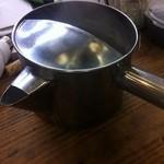 蕎麦処 おおくぼ - 蕎麦湯