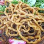麺屋 風火 - 麺はこんな感じ(湖国ブラック)