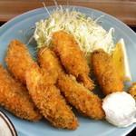 乃んき食堂 - カキフライアップ