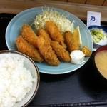 乃んき食堂 - カキフライ定食