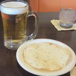 16705657 - 生ビール&パパド