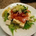水天 - アボカドと豆腐のサラダ
