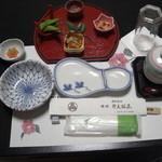 旅館 弁天鉱泉 - 料理写真:夕食の一例・先付けまで