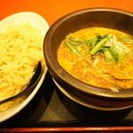 浅草製麺所 - 【季節限定】石鍋カレー味噌つけ麺(¥850・中盛)