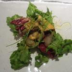 タニーチャ - 甘海老のマリネ、カラスミ