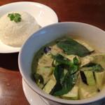 タイ国料理 ナムティップ - グリーンカレー+ごはん。