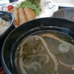 沼津魚がし鮨 - 沼津魚がし鮨 富士山静岡空港店 定食の味噌汁