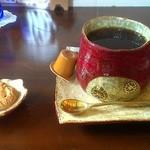 アンズカフェ - ブレンドコーヒー。100円引きなので300円。