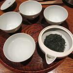 一保堂茶舗 喫茶室 嘉木 - お湯の温度を下げていきます