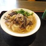 才谷屋 - 牛肉うどん500円を注文!