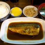 わらじ家 - わらじ家 @銀座 さばみそ定食 500円