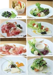 ボーノミイナ - 前菜の一例です!自家栽培野菜や立川野菜も取り入れています!