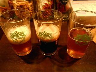 地ビールバー まる麦 - 三種お試しセット