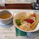 ニューハングリータイガー - スープとサラダ