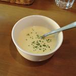 洋食屋 きっちんはうす - きっちんはうす(ポークソテーデミソース750円・スープ)
