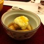 山鹿温泉 清流荘 - 炊合せ、海老芋帆立貝山芋餡かけ