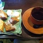KUKURU - 珈琲とパウンドケーキ(珈琲豆. 蜂蜜とりんごのハーフ&ハーフ)