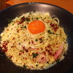 パッセジャーレ - 料理写真:「つまんでご卵」のカルボナーラ