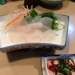 竹松 - カワハギを肝醤油で