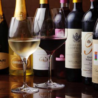 イタリア各地のワインがリーズナブルにお楽しみいただけます♪