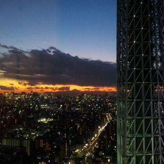 夕方が一番綺麗な時間帯です。