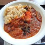 里山カフェ - 玄米トマトカレー