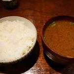 あげづき - 定食につくごはんとお味噌汁♪(2012/11)
