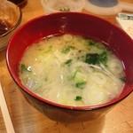 とんかつ武蔵 - 2013/1 味噌汁