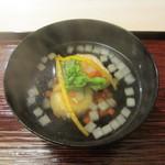 祇園 末友 - クワイ餅、河豚の白子のお椀