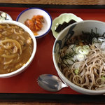 浜陣 - ミニカレー丼単品@400円 おろしそば単品@500円