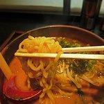 麺家 大国 - 麺は平打ちの太め