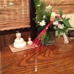 讃水 - 讃水の正月飾り(13.01)