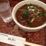 讃水 - 讃水の肉カレーうどん 細切り850円(13.01)