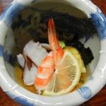 Fukuichi - 酢の物 ~地蛸、地穴子、地サザエ、地ワカメ、エビ~