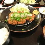 とんかつ高山 - おろしロースカツ定食 ¥1300