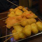 まるりゅう - 揚げたての野菜串2