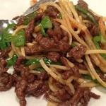 中国料理 上海謝謝 - 牛肉とピーマンの細切り炒め