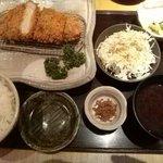 かつ玄 - ロースカツ膳(1700円)