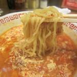 龍海閣 - タンタン麺のアップ