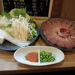 はな穂 - 石川産6キロ超のぶりしゃぶ!ホッペが落ちるかと思うくらい、美味しかったデス‼お野菜たちもあま~く・・・これで2人前でした。