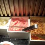 博多 一風堂 - もやしキムチ、紅しょうが、にんにくは自由