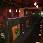 ザザザ食堂 - 座敷は掘り形式で20名が座れます。鍋パやコンパ、女子会に最適。