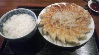 むつぎく - 餃子(大)とライス