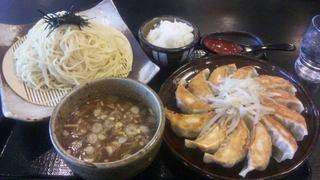 五味八珍 浜松駅ビル メイワン店 - 浜松餃子とつけ麺のセット(麺大盛り)