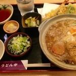 うどん市 - 天ぷら付きの味噌煮込みうどん (これより2013.01〜)