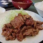 あらき - 『生姜焼肉定食』の生姜焼肉部分。