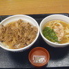 なか卯 - 料理写真:和風牛丼大盛り+小うどん鶏塩 640円