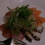 くいもの屋 わん - 本日のお魚4種のカルパッチョ