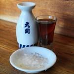 哈爾濱餃子 - 2013.1 紹興酒(グラス400円)頼めばザラメも出してくれます