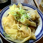 中国ラーメン揚州商人 - 皿蝦ワンタン(350円)、海老のプリプリ感が良い感じ♪